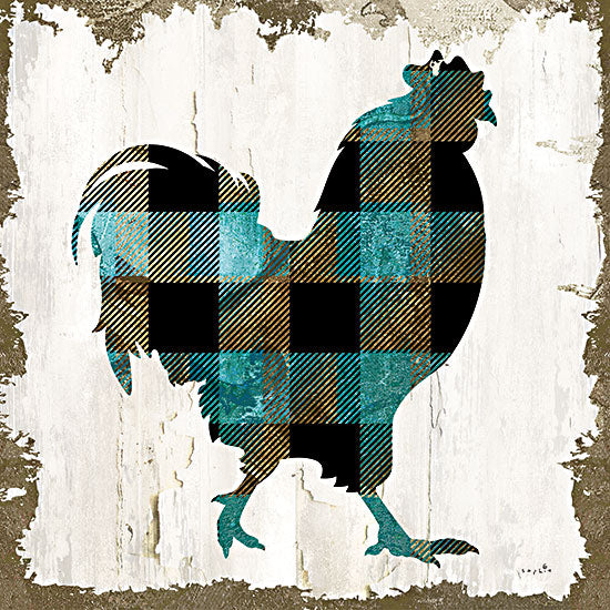 Sophie 6 SIX352 - SIX352 - Farm Fashion Rooster - 12x12 Rooster, Farm, Farm Animal, Plaid, Collection, Color Bakery from Penny Lane