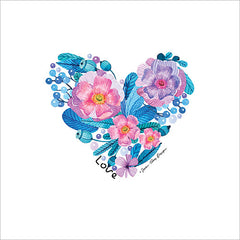 ST105 - Floral Love Heart - 12x12