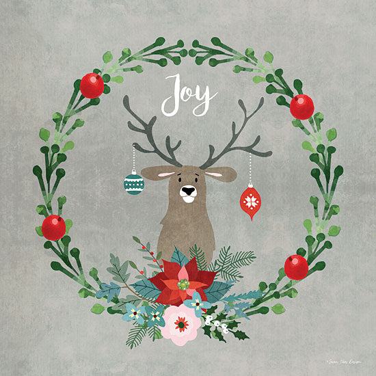 Seven Trees Design ST644 - ST644 - Christmas Deer - 12x12 Joy, Wreath, Reindeer, Poinsettias, Flowers, Holly, Humorous from Penny Lane