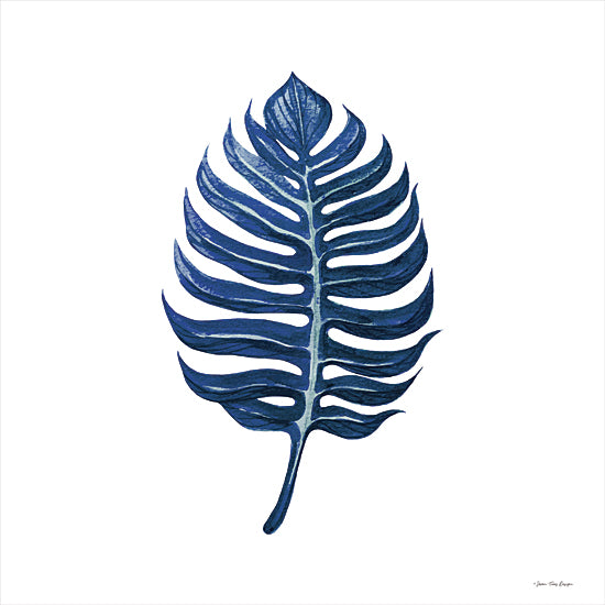 Seven Trees Design ST796 - ST796 - Watercolor Blue Leaf I - 12x12 Leaf, Blue Leaf, Tropical, Botanical from Penny Lane