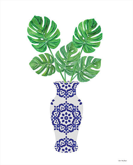 Seven Trees Design ST804 - ST804 - Watercolor Blue Jar - 12x16 Cactus, Blue and White Vase, Southwestern, Botanical from Penny Lane