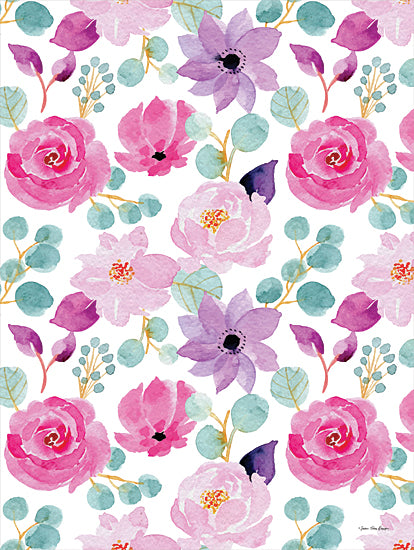 Seven Trees Design ST819 - ST819 - Sweet Flora - 12x16 Flowers, Greenery, Pattern, Repeat, Pink and Purple Flowers from Penny Lane