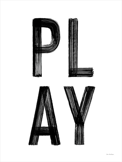 Seven Trees Design ST834 - ST834 - PLAY - 12x16 Play, Black & White, Signs, Children from Penny Lane