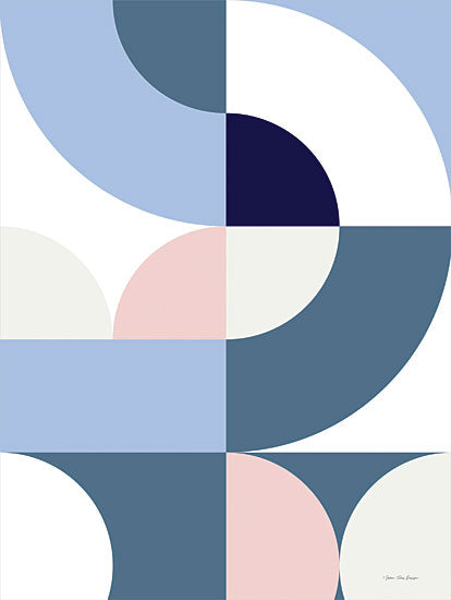 Seven Trees Design ST860 - ST860 - Scandinavian Geometry - 12x16 Abstract, Contemporary, Half Circles, Shapes from Penny Lane