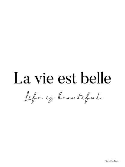 Seven Trees Design ST903 - ST903 - Life is Beautiful in French - 12x16 Life is Beautiful, French, Love, Signs from Penny Lane