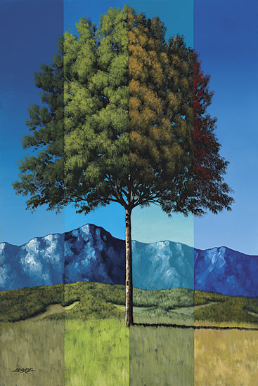 Tim Gagnon TGAR101 - Green Tree - Tree, Landscape, Mountains from Penny Lane Publishing