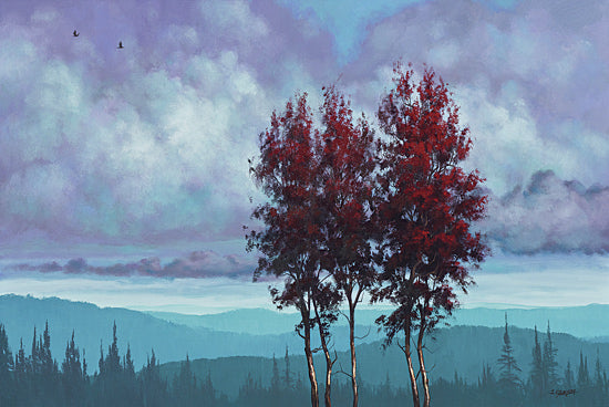 Tim Gagnon TGAR113 - Two Red Trees - Tree, Landscape, Mountains, Red from Penny Lane Publishing
