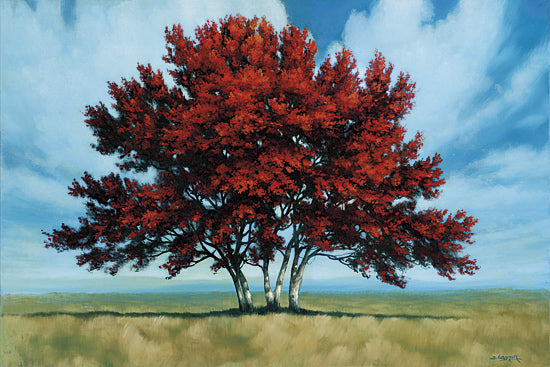 Tim Gagnon TGAR123 - WeÕre Alone in Red - Tree, Landscape, Red from Penny Lane Publishing