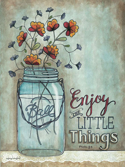 Tonya Crawford TLC334 - Enjoy the Little Things - Ball Jar, Flowers, Inspiring from Penny Lane Publishing