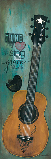 Tonya Crawford TLC339 - Tune My Heart - Guitar, Bird, Music, Signs, Bible Verse from Penny Lane Publishing