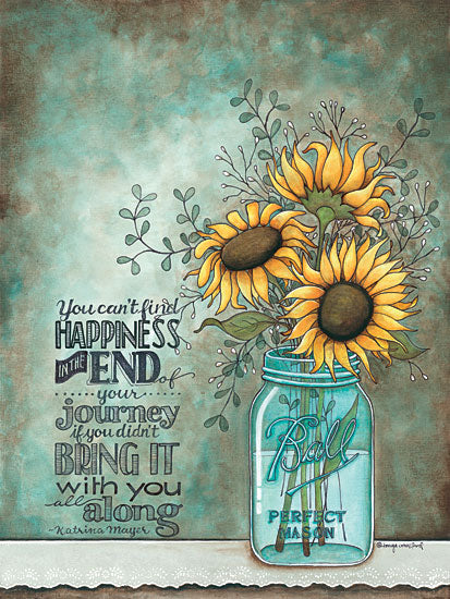 Tonya Crawford TLC340 - All Along - Jar, Sunflowers, Motivating from Penny Lane Publishing