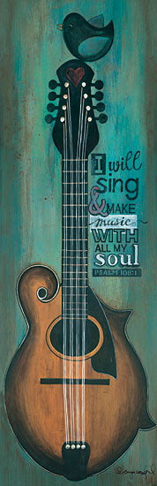 Tonya Crawford TLC344 - I Will Sing - Guitar, Bird, Music, Signs, Quote from Penny Lane Publishing