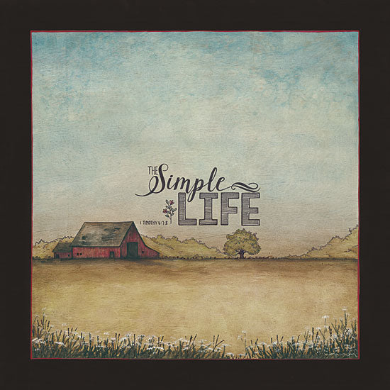 Tonya Crawford TLC364A - The Simple Life - Barn, Trees, Field, Religious, Inspirational from Penny Lane Publishing