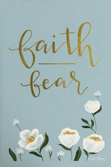 April Chavez AC100 - Faith Fear Flowers - 12x18 Faith, Fear, Flowers, White Flowers, Blossoms from Penny Lane