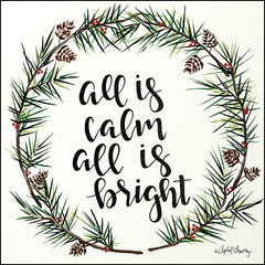 AC104 - All is Calm Pinecone Wreath - 12x12