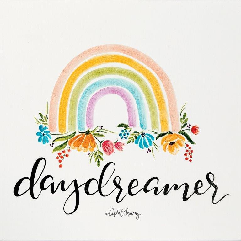April Chavez AC107 - AC107 - Daydreamer Rainbow   - 12x12 Rainbow, Signs, Daydreamer, Calligraphy, Flowers from Penny Lane