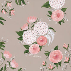 AC117 - Pink and White Floral    - 12x12