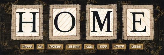 Annie LaPoint ALP1101B - Home Home, Love, Burlap, Signs, Patterns from Penny Lane
