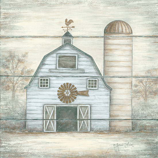 Annie LaPoint ALP1638 - The Big White Barn - Barn, Silo, Farm, Weathervane from Penny Lane Publishing