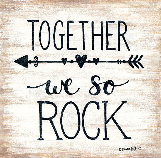 Annie LaPoint ALP1659 - Together We So Rock - Together, Rock, Arrow, Signs from Penny Lane Publishing