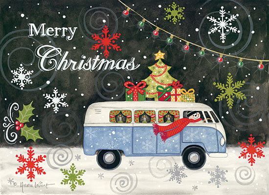 Annie LaPoint ALP1756 - VW Christmas Bus VW Van, Holidays, Winter, Snowflakes, Van, Merry Christmas from Penny Lane