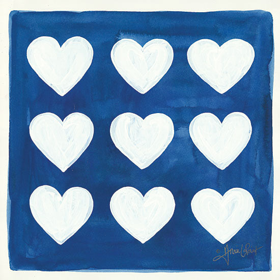 Annie LaPoint ALP1787 - Crazy Hearts Heart, Love, Blue & White from Penny Lane