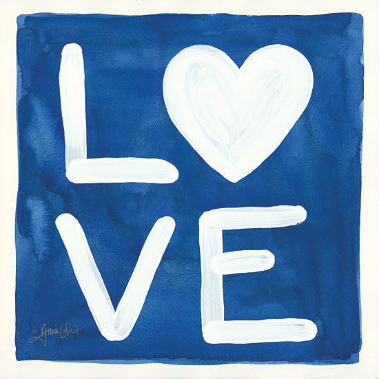 Annie LaPoint ALP1789 - Big Love Love, Heart, Blue & White, Signs from Penny Lane
