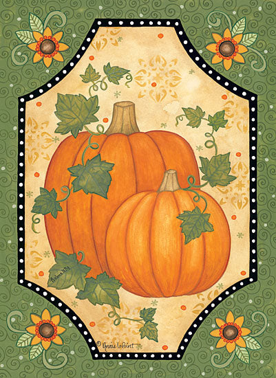 Annie LaPoint ALP1790 - Pumpkins & Sunflowers - 12x16 Pumpkins, Sunflowers, Flowers, Gourds, Patterns, Harvest, Autumn from Penny Lane