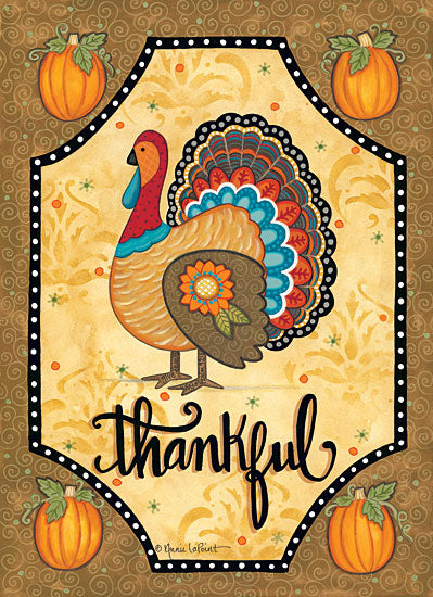 Annie LaPoint ALP1791 - Thankful Turkey - 12x16 Turkeys, Pumpkins, Gourds, Patterns, Autumn, Thanksgiving, Holiday from Penny Lane