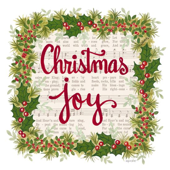 Annie LaPoint ALP1810 - Christmas Joy Holiday Wreath - 12x12 Holidays, Sheet Music, Wreath, Poinsettias, Flowers, Joy, Holly and Berries from Penny Lane