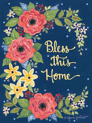 ALP1857 - Floral Bless This Home - 12x16