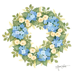 ALP1875 - Hydrangeas in Bloom Wreath - 12x12