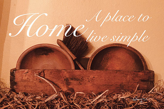 Anthony Smith ANT143 - Home a Place to Live Simple Home, Sepia, Antiques, Primitive, Signs from Penny Lane