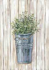 ART1069 - White Berries in Galvanized Pail