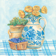 ART1079 - Blue and White Pottery with Flowers II