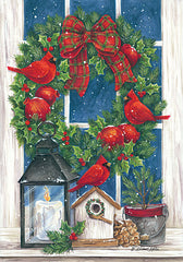 ART1111 - Pomegranate Christmas Wreath - 12x18