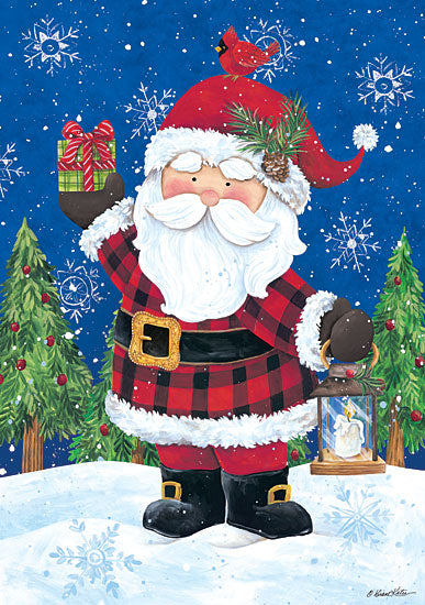 Diane Kater ART1121 - Santa with Lantern - 12x16 Holidays, Santa Claus, Lantern, Cardinals from Penny Lane