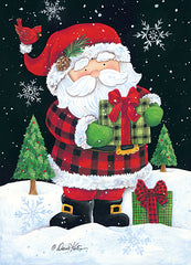 ART1147 - Plaid Santa Claus - 12x18