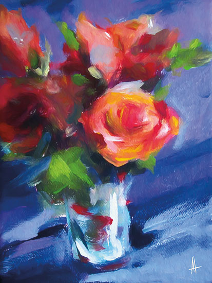 Anne Thouthip AT117 - AT117 - Orange Rose - 12x16 Roses, Vase, Bouquet, Orange Roses from Penny Lane
