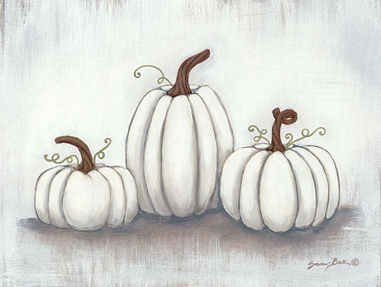 Sara Baker BAKE113 - Grow Together - 16x12 White Pumpkins, Pumpkins, Harvest, Farm from Penny Lane