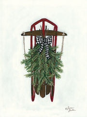 BAKE117 - Vintage Winter Sled - 12x16