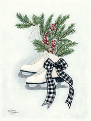 BAKE118 - Vintage Winter Ice Skates - 12x16