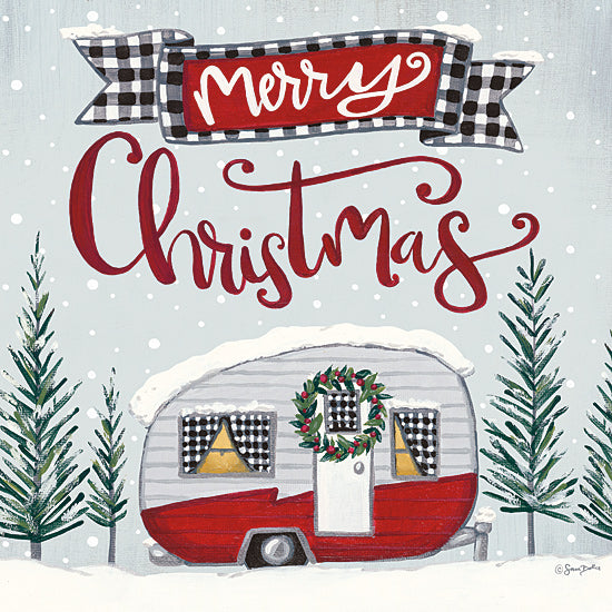 Sara Baker BAKE145 - BAKE145 - Merry Christmas Camper - 12x12 Signs, Typography, Christmas, Camper, Trees, Merry Christmas from Penny Lane