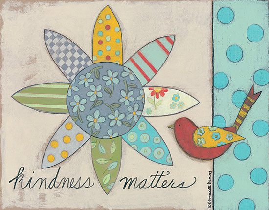 Bernadette Deming BER1268 - Kindness Matters - Kindness, Bird, Flower, Patchwork, Quilt, Primitive from Penny Lane Publishing