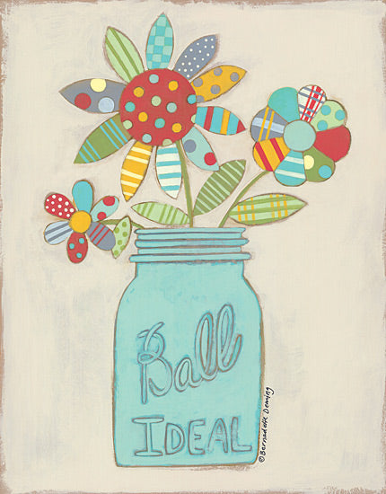 Bernadette Deming BER1270 - Ball Jar of Flowers - Ball Jar, Flowers, Patchwork, Quilt, Primitive from Penny Lane Publishing