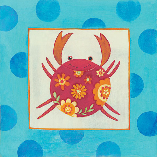 Bernadette Deming BER1305 - Happy Floral Crab Crab, Flowers, Nautical, Ocean, Babies from Penny Lane