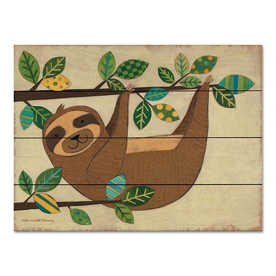 Bernadette Deming BER1315PAL - Hanging Sloth Sloth, Patterned Leaves, Tree, Hanging Around from Penny Lane