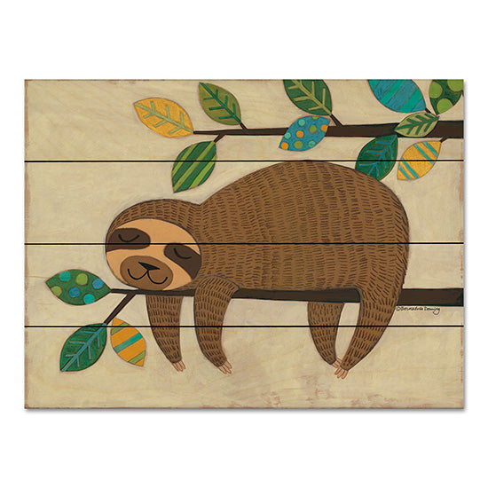 Bernadette Deming BER1316PAL - Sleeping Sloth Sloth, Patterned Leaves, Tree, Hanging Around from Penny Lane