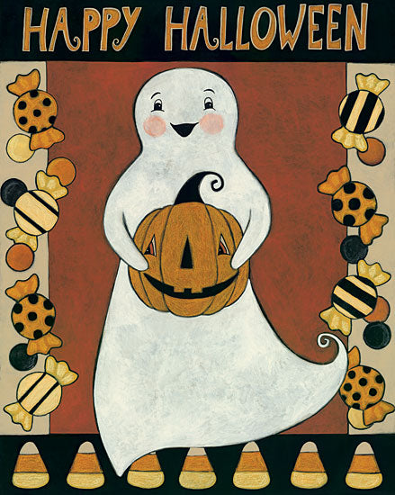 Bernadette Deming BER1324 - Ghosts with Treats - 12x16 Ghost, Treats, Candy, Halloween, Pumpkin, Holiday from Penny Lane