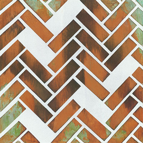 Britt Hallowell BHAR451 - Herringbone I - Herringbone, Tiles from Penny Lane Publishing